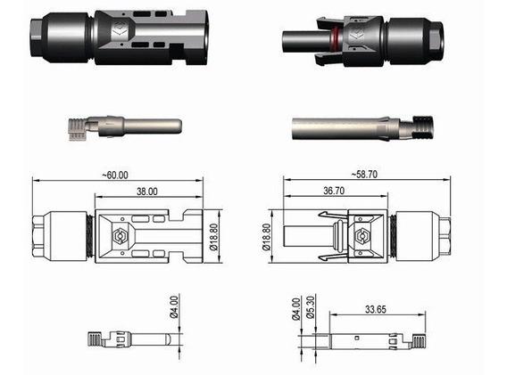 Kit 30 Conectores Mc4 2.5-6mm2 Para Painel Solar