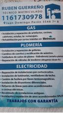 Gasista Matriculado. Instalaciones- Reparaciones