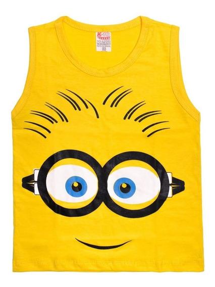 10 Camiseta Infantil Regata Blusa Machão Super Heróis Batma
