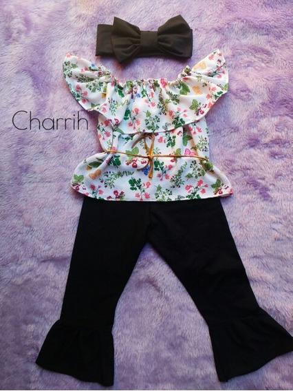Conjunto Blusa Ciganinha+calça Flyer+turbante Maxi