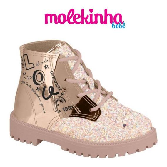 Bota Molekinha 2126 102 Ouro - 17 Ao 25 - Promoção