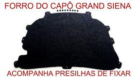 Forro Do Capô Grand Siena Termo Resinado Com Presilhas