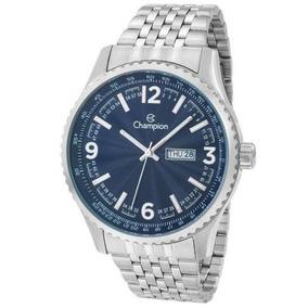 Relógio Champion Masculino Ref: Ca31604f Casual Prateado