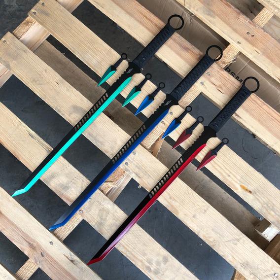 Ninjato + 2 Kunais Full Tang Filo Maximo 4 Colores 102065
