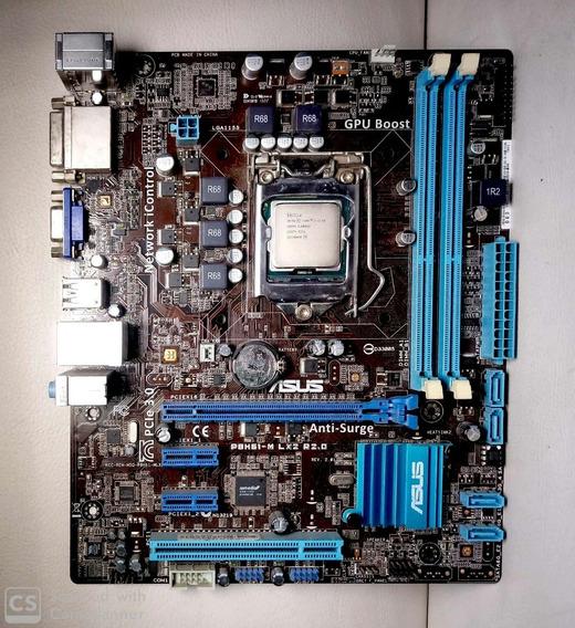 Kit Processador I7 3770 3.40ghz + Placa Mãe Asus + 8gb (2x4gb) 3 Geração + Brinde