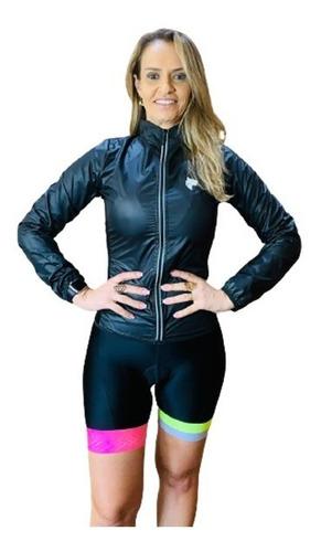 Imagem 1 de 4 de Corta Vento Ciclismo Feminino Preto Lynce