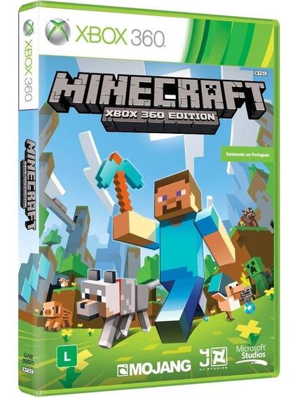 Minecraft Xbox 360 Edition - Xbox 360 - Novo - Mídia Física