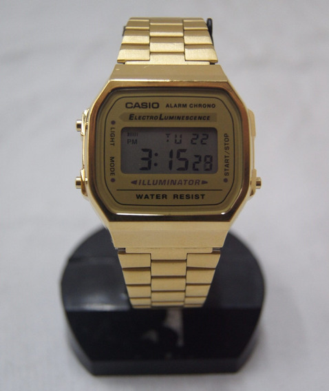 Relógio De Pulso Casio Vintage Dourado