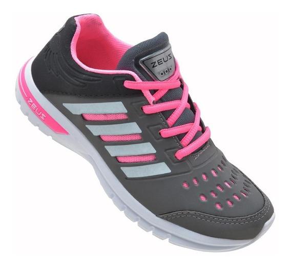 Tenis Esportivo Feminino Fxb Lançamento Caminhada Corrida
