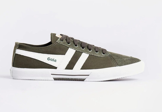 Zapatillas Gola Super Quarter Verde /crudo Originales
