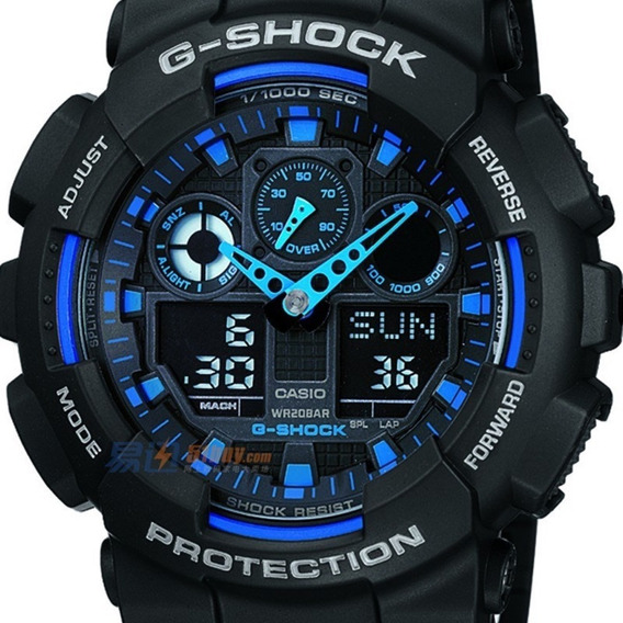 Relógio Masculino Casio G-shock Ga-100-1a2dr Original .