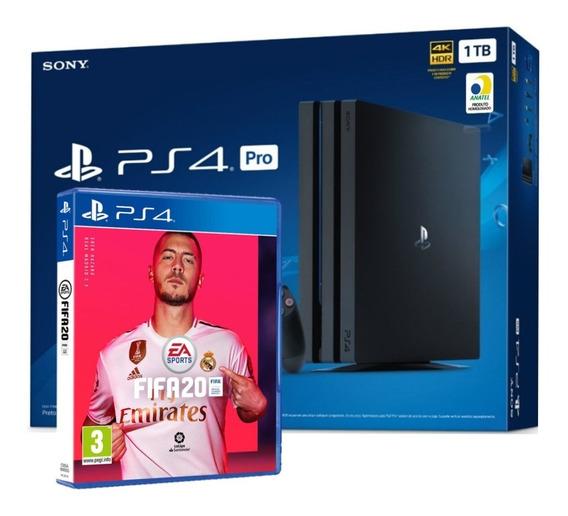 Playstation 4 Ps4 Pro 1tb 4k 7215b Lacrado Fábrica C/ Fifa
