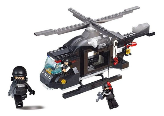 Blocos De Montar Helicóptero De Combate Multikids - Br834