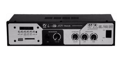 Amplificador Cabeçote Wr Sl 760 Bt 36w Rms Usb/bluetooth/fm