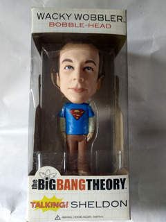 Wacky Wobbler Sheldon Superman Camiseta Cabezon 18 Cm