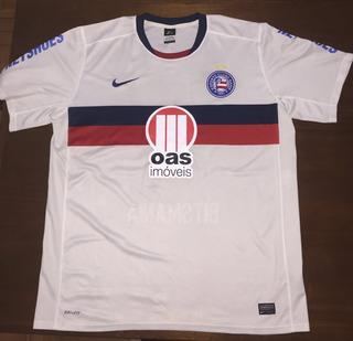 Camisa Bahia Original Nike Futebol Usada Oficial C Detalhe
