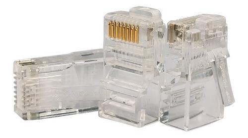 Conector Rj45 Cat5e Kit 100 Unidades Lan Plug Ethernet