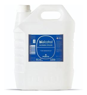 Alcohol Etílico 96% Bidón 5 Lts Bialcohol Porta Villa Devoto