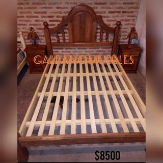 Cama Algarrobo 2 Plazas 1.40x1.90 Nuevo