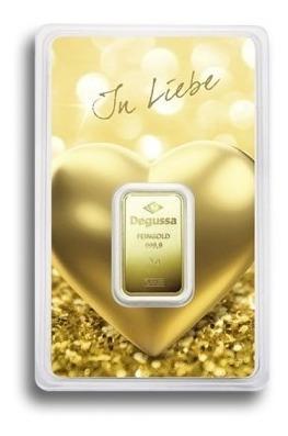 Lingote De Oro 5 Gr De 24 Kilates Degussa Suiza Enamorado