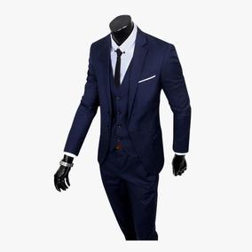 Terno Slim Oxford + Sapato Social + Colete Ternos Blazer Top