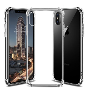 Forro Case iPhone XR Xs Max Xs X Transparente Antigolpes