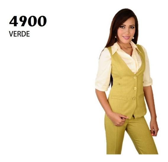 Conjunto Saco Pantalón Dama 4900 Verde Uniformes