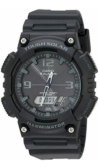 Reloj Casio Aq-s810w2 Dual Negro Wr100 Solar Analogo/digital