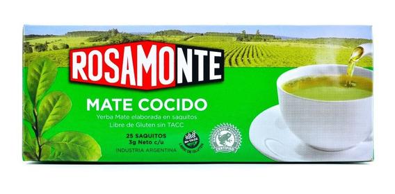 Yerba Mate Rosamonte Mate Cocido 25 Sacos De 3 Gramos