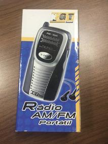 Radio Portatil Am/fm Gt Sound Novo! Na Caixa! Pw200 Com Fone