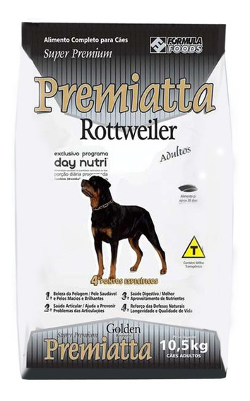 Ração Premiatta Rottweiler Para Cães Adultos - 10,5 Kg