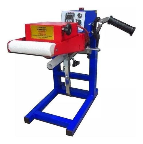 Prensa transfer Nasus Ink GIRO Thermo Roller Professional azul e vermelhna 110V