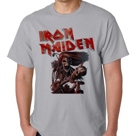 Camiseta Camisa Banda Iron Maiden Rock Blusa Mascul Feminino