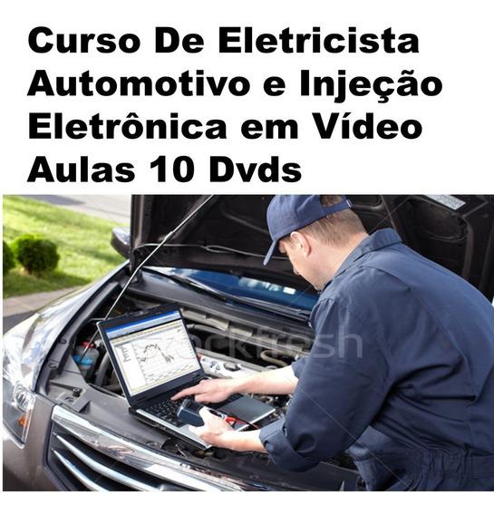 Curso Eletricista Automotivo Injeção Eletrônica Vídeo 10dvds
