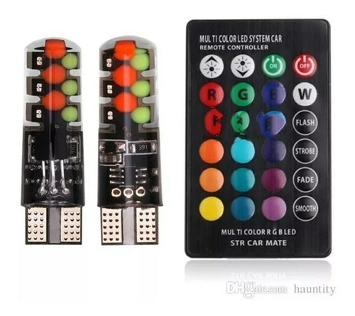 2 Cocuyos Led T10 + Control Remoto