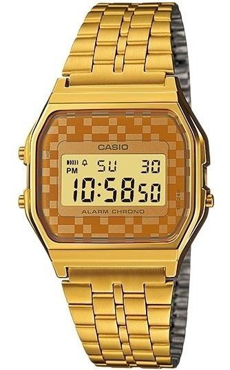 Relogio Casio A159 Wgea-9 Cronômetro Alarme Retro Vintage Q