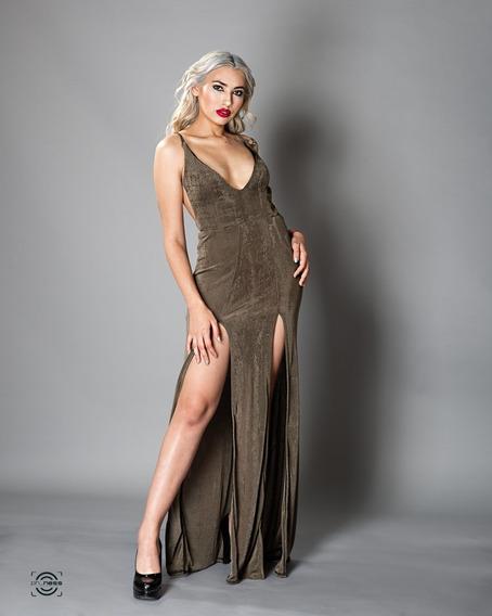 Vestido De Fiesta Con Espalda Sexy