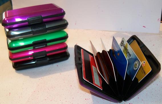 Porta Tarjetas Security Credit Card. Colores Variados
