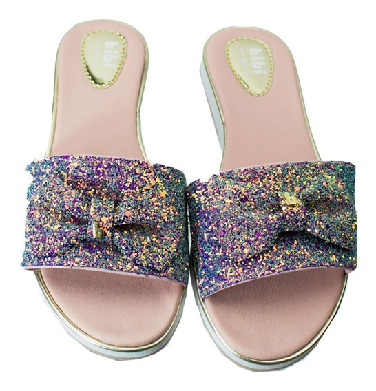 Chinelo Slide Infantil Bibi Flat Fashion 1015029