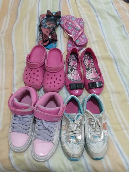 Lote De Calçados Infantil Menina