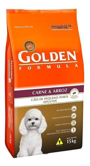 Ração Golden Carne Arroz P/ Cães Adulto De Raça Pequena 15kg