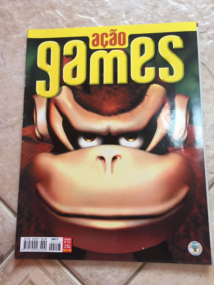 Revista Ação Games 147 Donkey Kong Medal Of Honor 007 F793