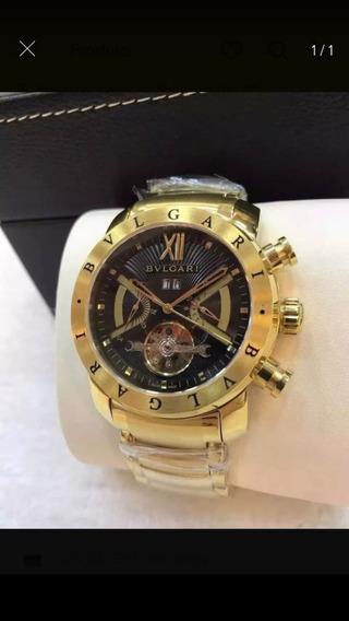 Relógio Hht8585 Masculino Iron Man Dourado Automatico