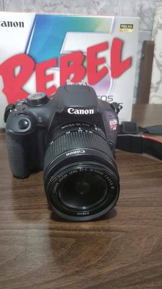 Canon T5 + 50mm 1.8 + Acessórios.