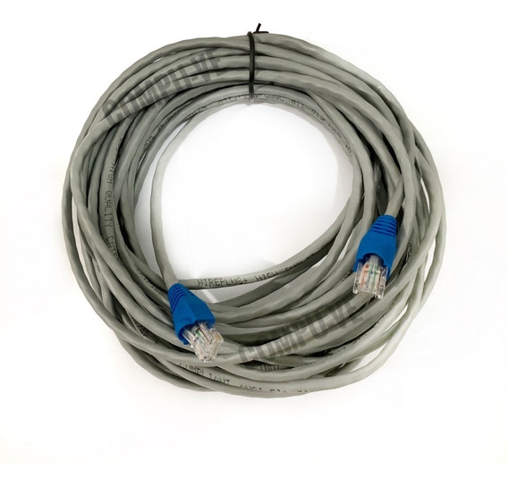 Cable Utp Cat5e Marca Wireplus 35 Metros Para Internet Redes