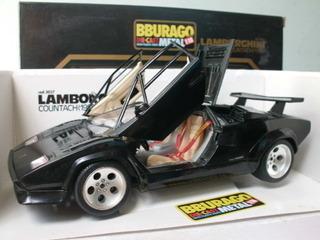 Carro Coleccion Burago Lamborghini Countach 1988 Escala 1:18