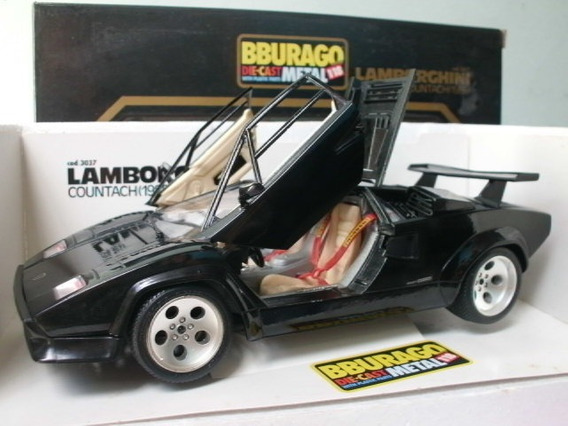 Carro Coleccion Burago Lamborghini Countach 1988 Escala 1:18