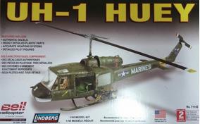Helicoptero Uh-1c Huy Gunship Pintado Lindberg Escala 1/43