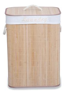 Canasto Cesto De Bamboo Plegable Ropa Organizador