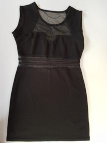 Vestido De Fiesta Negro Con Tela Encaje